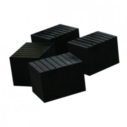 Set of Four Tall Rubber Blocks
