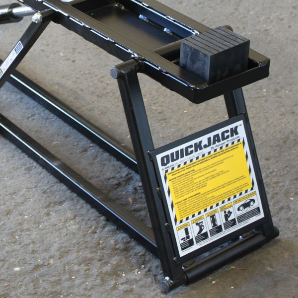 QuickJack Car Hoist with Rubber Blocks