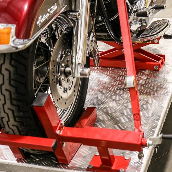 QuickJack Motorcycle Lift Adapter with Tie Downs