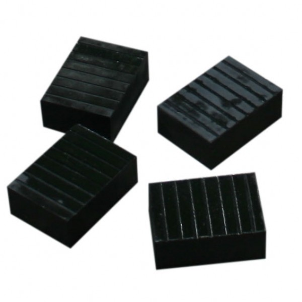 Set of Four Small or Short Rubber Blocks
