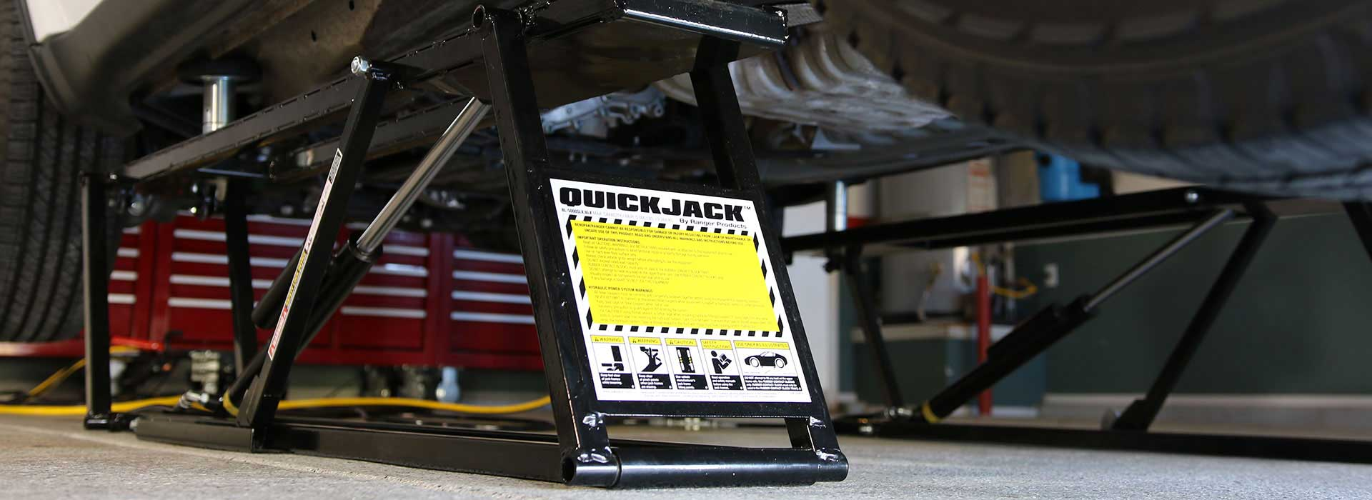 Access higher lifting points with QuickJack