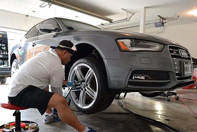QuickJack Audi Home Garage Repair