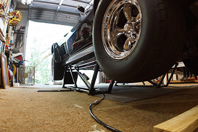 Corvette Stingray Home Garage Lift Repair