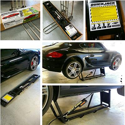 Portable Car Lift for Car Detailing Porsche
