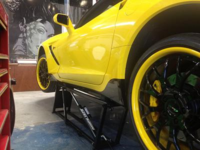 Portable Car Lift at West Coast Customs