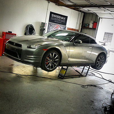 QuickJack Perfect for Detailing Sports Car