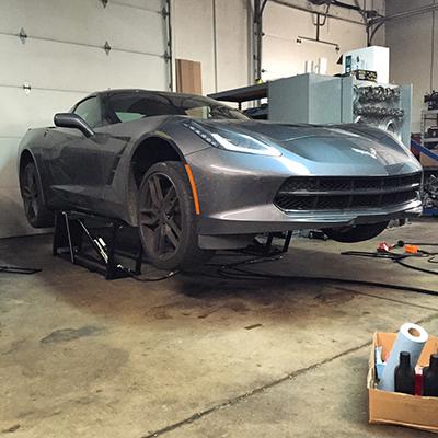 Corvette Detailing with QuickJack Auto Lift