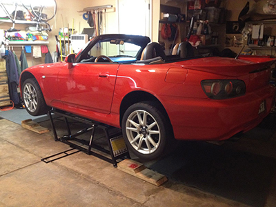 Portable Car Lift for Home Garage Miata Repair