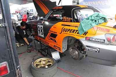 QuickJack Portable Car Lift Racing Pit