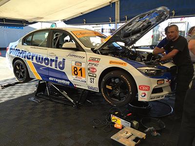 QuickJack Portable Garage Lift Hartanto Paddock Prima Racing