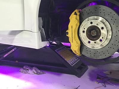 QuickJack Portable Car Lift at West Coast Customs Porsche